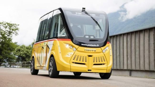 스위스에서 시험 운행 중인 자율주행 버스 - EPFL 제공